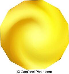 polygonal, fondo., chromatic