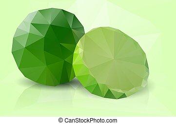 Polygonal fruit - lime