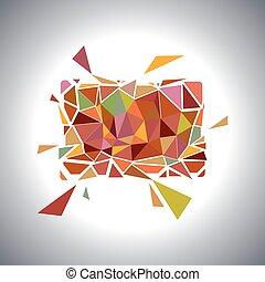 polygonal, géométrique, card., vecteur