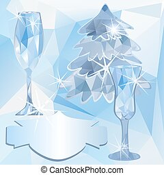 polygonal, gelo, fundo