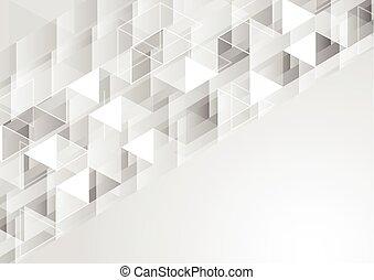 polygonal, geometrico, grigio, fondo, pixelated