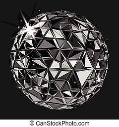 polygonal, geometryczny, czarnoskóry, ball.