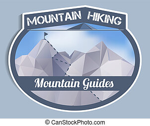 polygonal, hegy, böllér, -, idegenvezetők