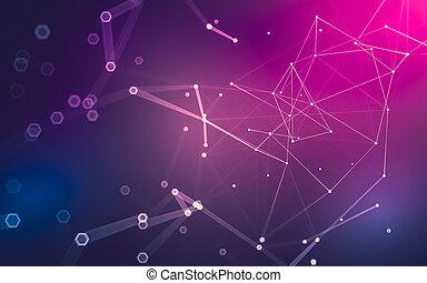 polygonal, hely, elvont, poly, sötét, vakolás, háttér, alacsony, 3