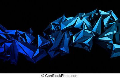 polygonal, hintergrund., abstrakt, 3d, übertragung
