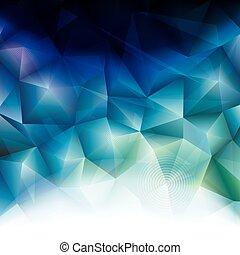 polygonal, hintergrund., abstrakt