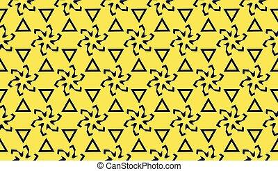 polygonal, illustration., affiche, élégant, couleur, flyer., triangulaire, jaune, color., 1, ligne., clair, vecteur, fond, 2., style., bannière