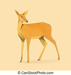 doe - polygonal illustration of doe