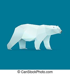 polar bear - polygonal illustration of polar bear