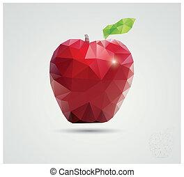 polygonal, jabłko
