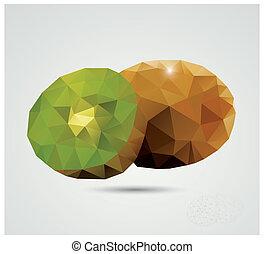 polygonal, kiwi