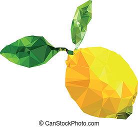 Polygonal Lemon Illustration