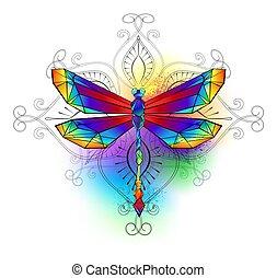 polygonal, libellule, clair