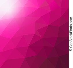 polygonal, low-poly, )triangular, (, gradient., style, geometric., fond, rose, résumé, moderne