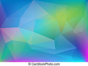 polygonal, luce, astratto, colorito