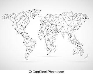polygonal, mappa mondo