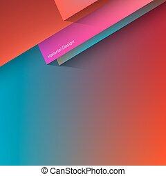Polygonal Material Design - Vector Material Design. Trendy...