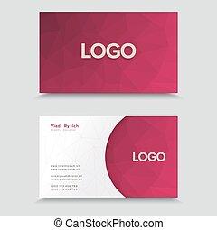 polygonal, mosaïque, conception, carte, business