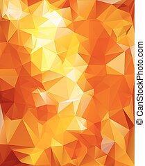 polygonal, mosaïque, fond