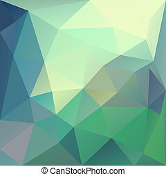 Polygonal mosaic abstract geometry background landscape in blue, yellow and green colors.