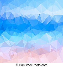 Polygonal mosaic background in blue and pink colors.