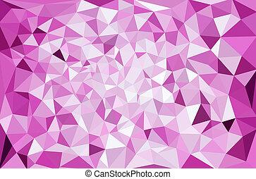 polygonal, mosaik, hintergrund