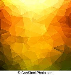 polygonal, mosaik, orange hintergrund