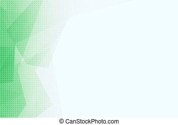 polygonal, muster, weißes, grün, hintergrund