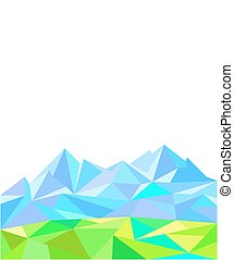 Polygonal natural background of the mountains.