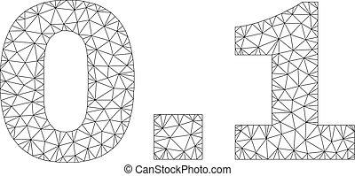 Polygonal Network 0.1 Text Caption