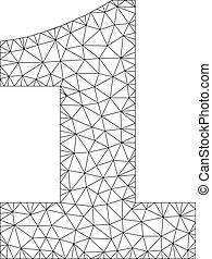Polygonal Network 1 Text Caption