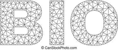 Polygonal Network BIO Text Caption