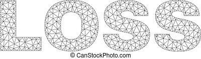 Polygonal Network LOSS Text Caption
