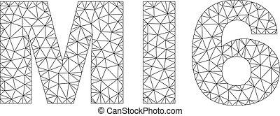 Polygonal Network MI6 Text Caption