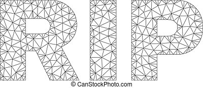 Polygonal Network RIP Text Caption