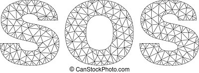 Polygonal Network SOS Text Caption