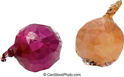 Polygonal Onion Illustration