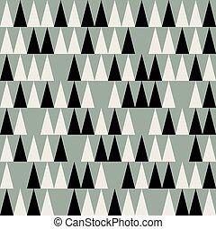 polygonal, padrão, abstratos, meio, século