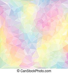 polygonal, pastell, dreieckig, fruehjahr