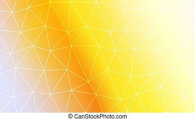 Polygonal pattern with triangles mosaic cover. Style for...