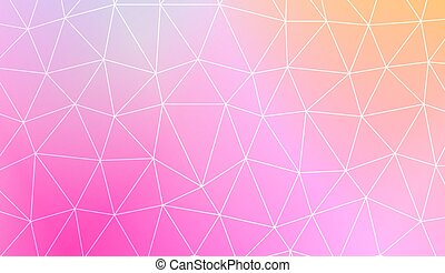 Polygonal pattern with triangles mosaic cover. Template for...