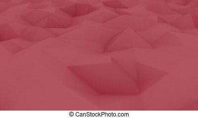 polygonal, peu profond, seamless, mouvement, fond, rouges, foyer., animation, boucle, 4k