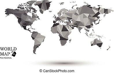polygonal, planisphère
