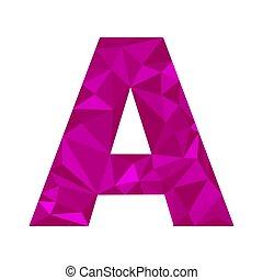 polygonal, plat, ontwerp, brief, stijl