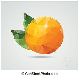 polygonal, pomarańcza
