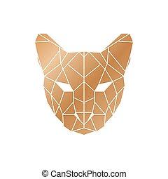 Polygonal puma head.