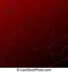polygonal, résumé, arrière-plan rouge