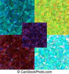 polygonal, résumé, ensemble, fond