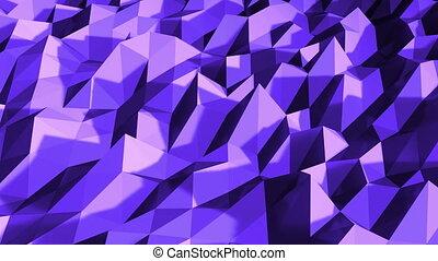 polygonal, résumé, seamless, mouvement, arrière-plan., engendré, informatique, géométrique, blanc, surface., boucle