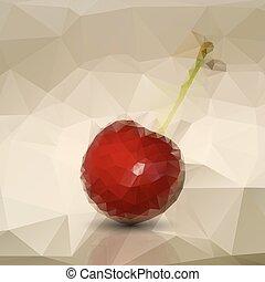 Polygonal red cherries